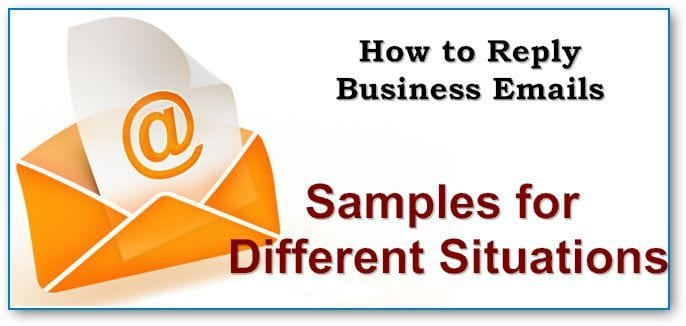 reply email samples for different situations several examples