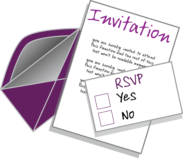 sample rsvp e mail responses for accepting or declining invitations