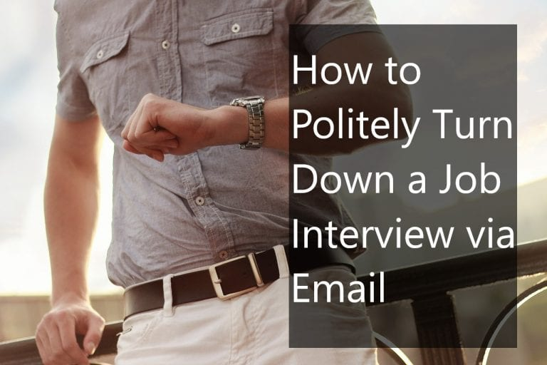How to Politely Turn Down a Job Interview via Email