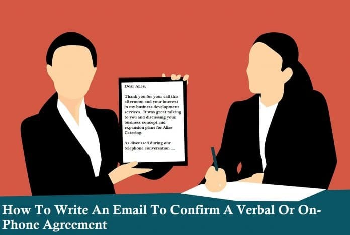 How To Write An Email To Confirm A Verbal Or On-Phone Agreement