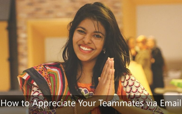 How to Appreciate Your Teammates via Email