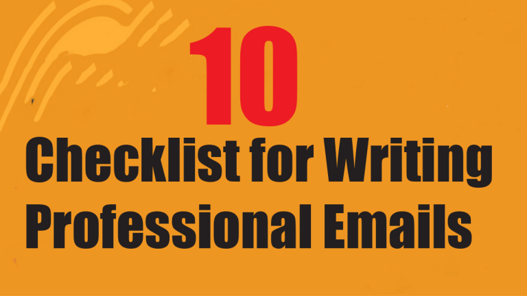 Your Complete Checklist for Writing Professional Emails