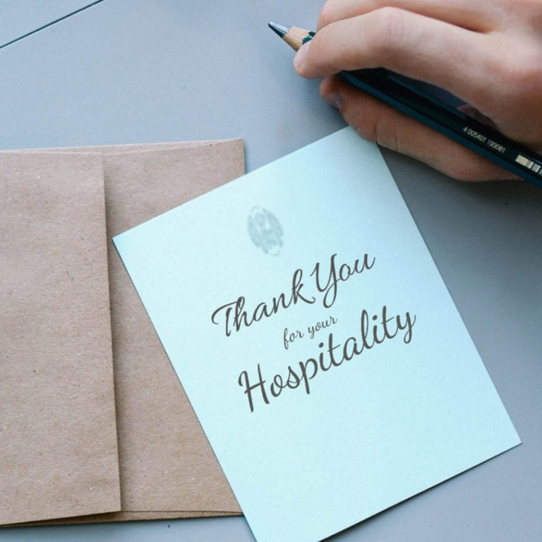 Best Email Samples: Thank Someone for Their Hospitality