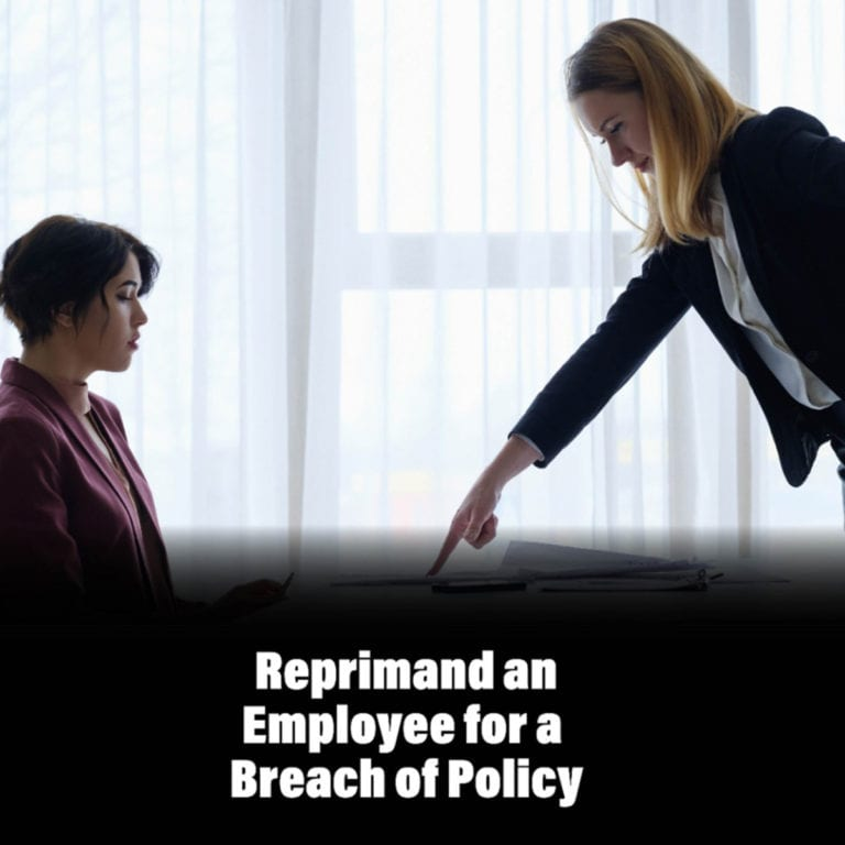Email Examples: Reprimand an Employee for a Breach of Policy