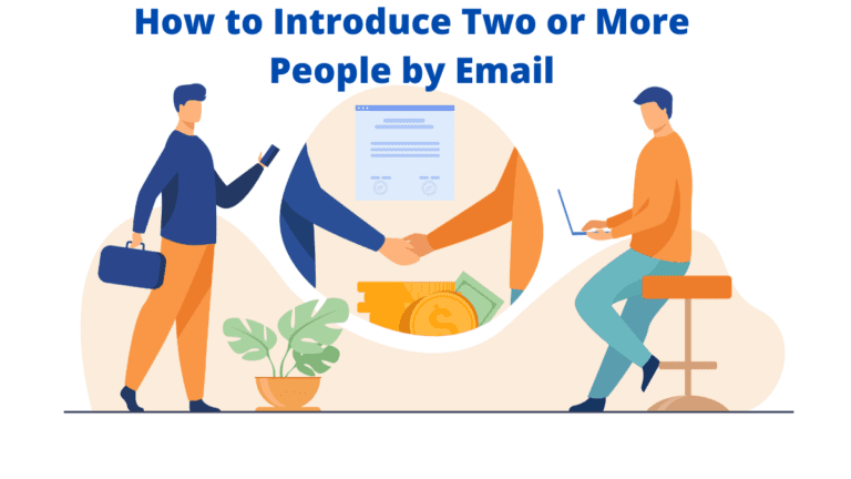 How to Introduce Two or More People by Email