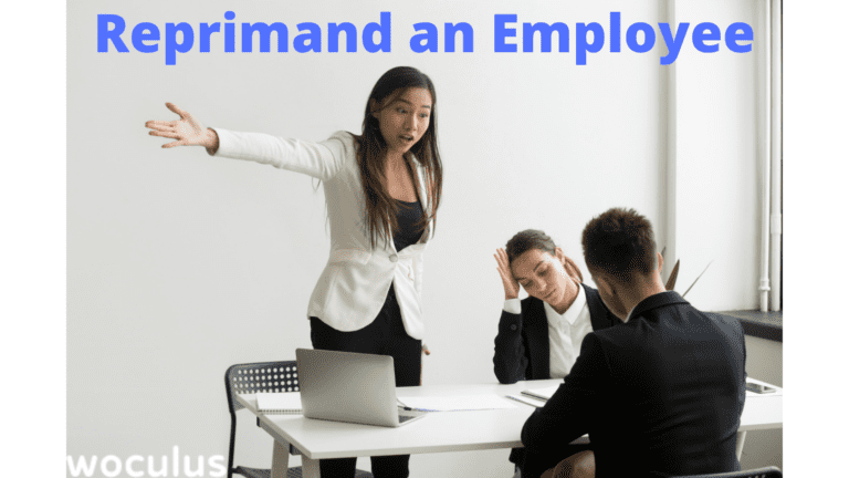 Reprimand an Employee for Poor Performance