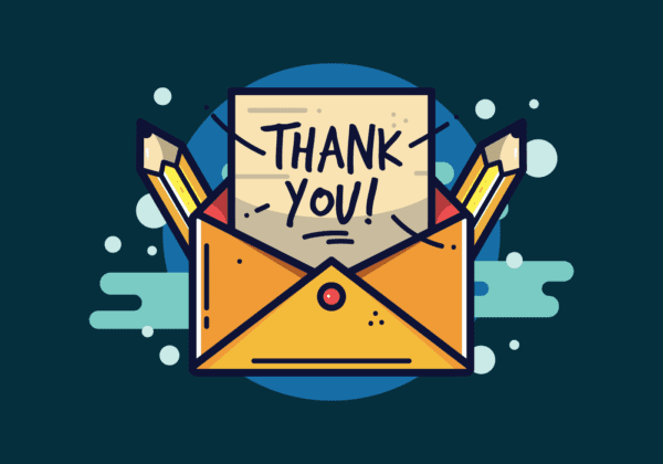 vector thank you typography