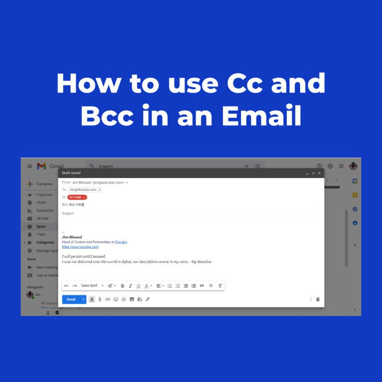 How to Use Cc and Bcc in an Email